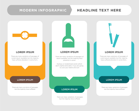 Mascara eye makeup business infographic template, the concept is option step with full color icon can be used for Hand nails painting bottle diagram infograph chart business presentation or web, Ring