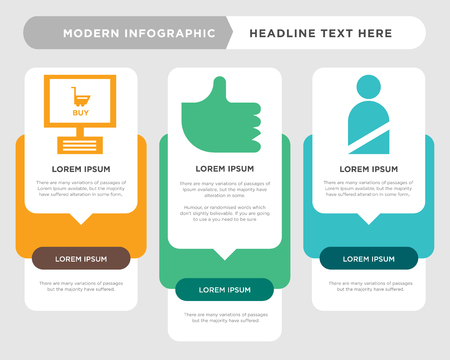 User business infographic template, the concept is option step with full color icon can be used for Like diagram infograph chart business presentation or web, Smartphone vector design element