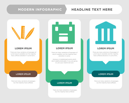 Business infographic template for diagram chart presentation illustration. Illustration