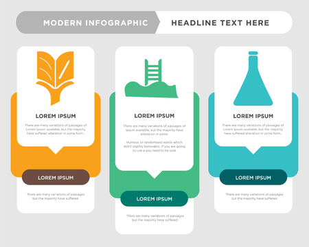 Chemistry business infographic template, the concept is option step with full color icon can be used for Swimming pool diagram infograph chart business presentation or web, Studies vector design