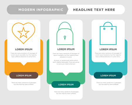 Business infographic template for shopping diagram chart business presentation. Illustration