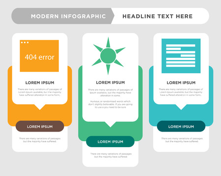 File business infographic template, the concept is option step with full color icon can be used for Contrast diagram infograph chart business presentation or web, Error vector design element