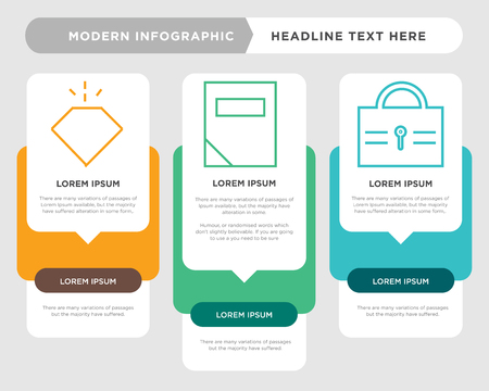 lock business infographic template, the concept is option step with full color icon can be used for calculator diagram infograph chart business presentation or web, analytics vector design element Illustration