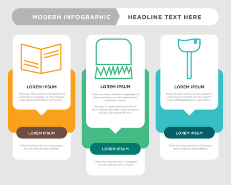 ice-cream business infographic template, the concept is option step with full color icon can be used for lock diagram infograph chart business presentation or web, book vector design element Illustration