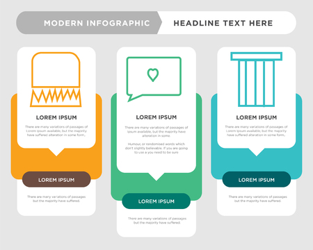 bag business infographic template, the concept is option step with full color icon can be used for love comment diagram infograph chart business presentation or web, lock vector design element