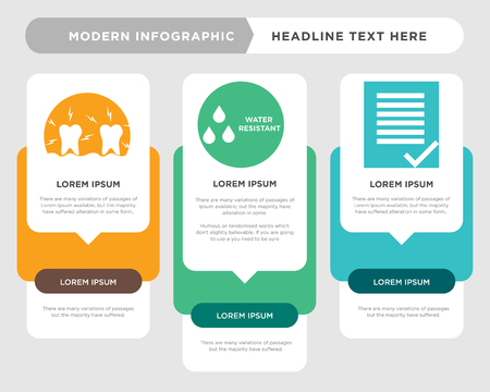 terms and conditions business infographic template, the concept is option step with full color icon can be used for water resistant diagram infograph chart business presentation or web, inflammation 免版税图像 - 100839398