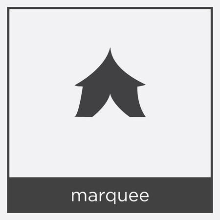 Marquee icon isolated on white background with black border Illustration