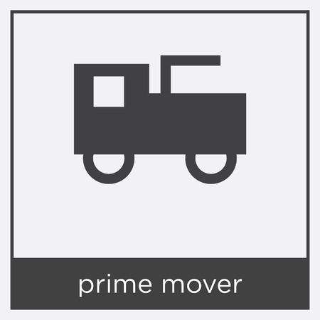Prime mover icon isolated on white background with black border Illustration