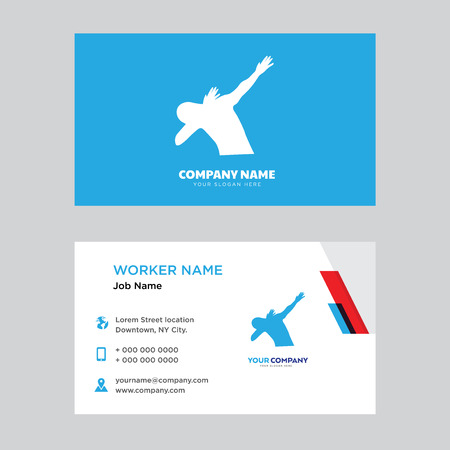Dab design business card template in front and back illustration.