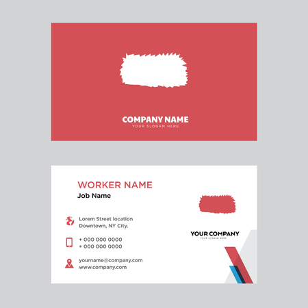 Hay bay business card design template in front and back illustration.