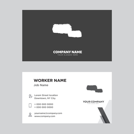 Hay bale business card design template in front and back illustration. Çizim