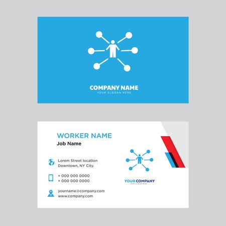 Distributor business card design template in front and back illustration. Illusztráció