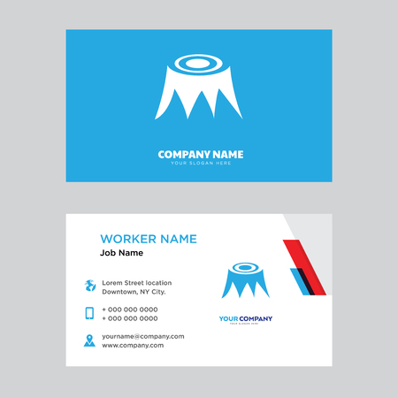stump business card design template, Visiting for your company, Modern Creative and Clean identity Card Vector