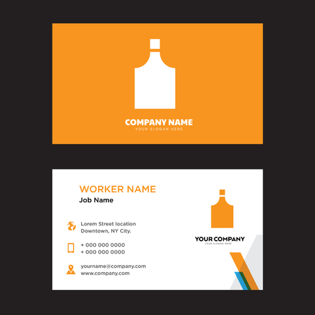 Perfume bottle business card design template, Visiting for your company, Modern Creative and Clean identity Card Vector Illustration
