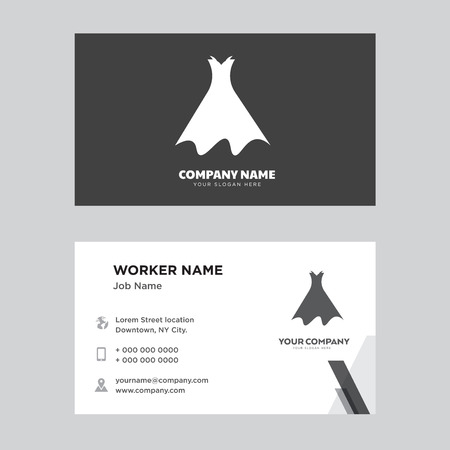 Strapless dress with belt and petticoat business card design template, Visiting for your company, Modern Creative Clean identity Card Vector