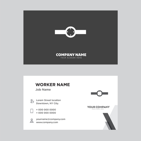 Ring with oval shaped de business card design template, Visiting for your company, Modern Creative and Clean identity Card Vector