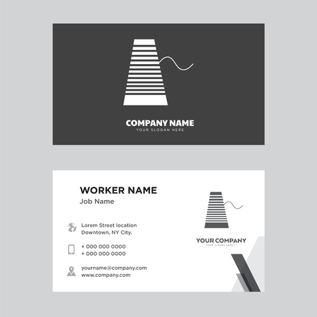 Thread business card design template, Visiting for your company, Modern Creative and Clean identity Card Vector Vettoriali