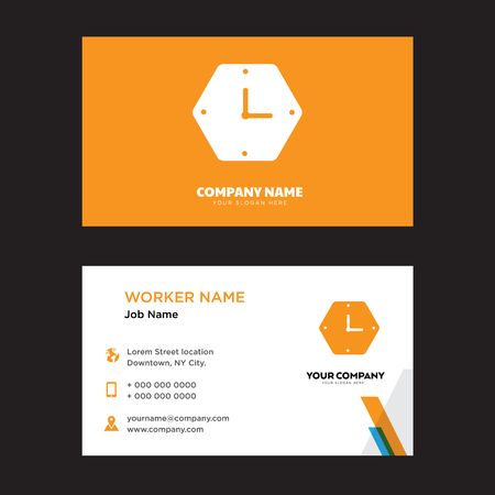 Clock business card design template visiting for your company clock business card design template visiting for your company modern creative and clean identity maxwellsz