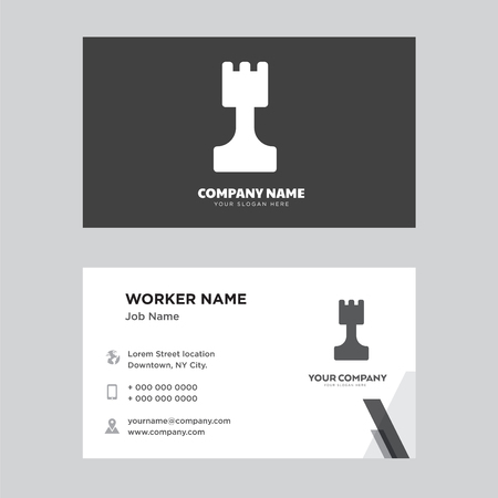 Chess business card design template, Visiting for your company, Modern Creative and Clean identity Card Vector Illustration
