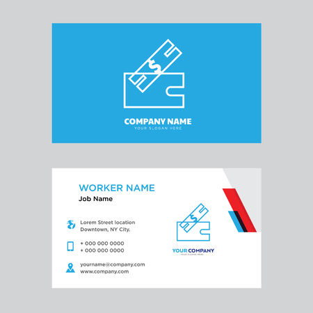 ticket business card design template, Visiting for your company, Modern Creative and Clean identity Card Vector