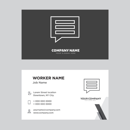 comment business card design template, Visiting for your company, Modern Creative and Clean identity Card Vector