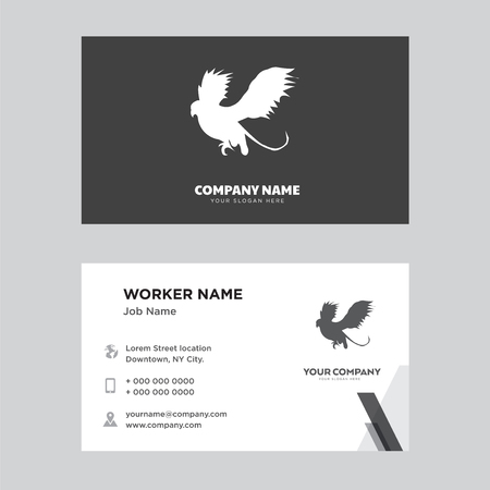 black griffin business card design template, Visiting for your company, Modern Creative and Clean identity Card Vector