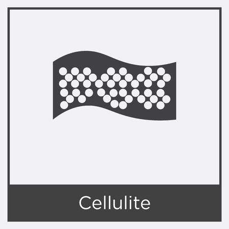 Cellulite icon isolated on white background with gray frame, sign and symbol. Illustration