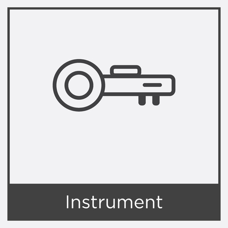 Instrument icon isolated on white background with gray frame, sign and symbol Stock Illustratie