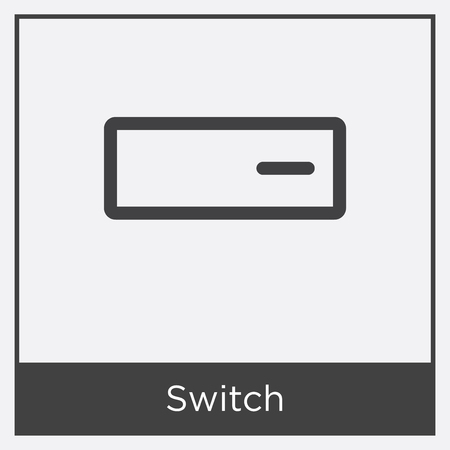Switch icon isolated on white background with gray frame, sign and symbol