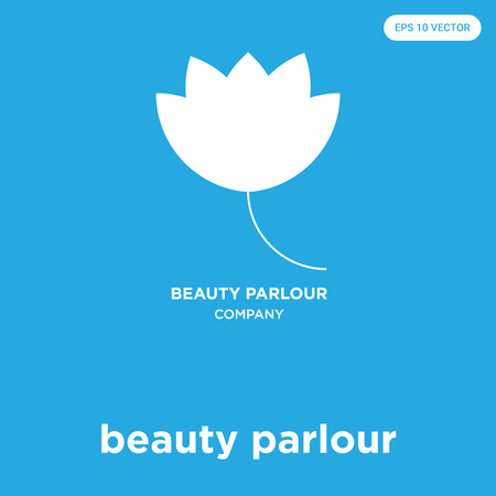 beauty parlour vector icon isolated on blue background, sign and symbol Ilustracja