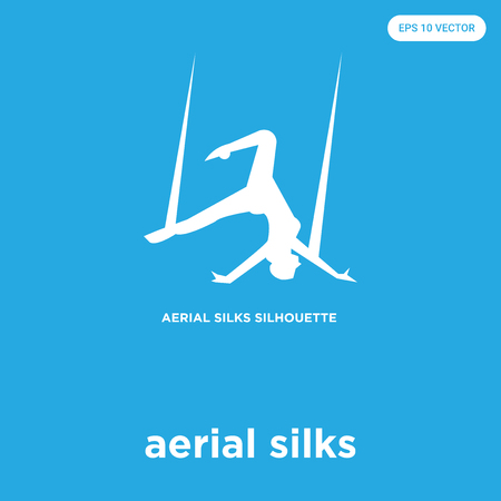 aerial skills vector icon isolated on blue background, sign and symbol