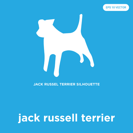 jack russell terrier vector icon isolated on blue background, sign and symbol Vettoriali
