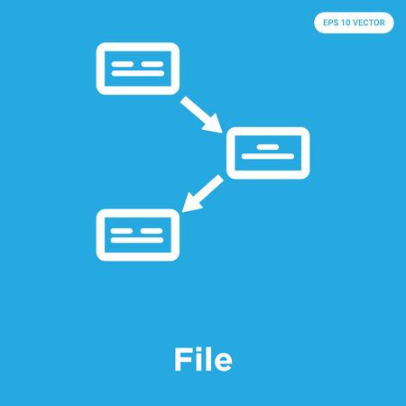 File vector icon isolated on blue background, sign and symbol