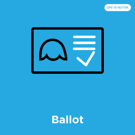 Ballot icon Illustration