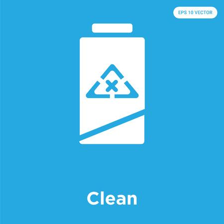 Clean vector icon isolated on blue background, sign and symbol Vektoros illusztráció