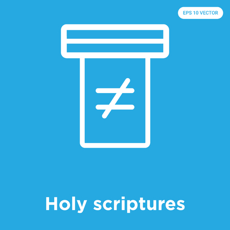 Holy scriptures vector icon isolated on blue background, sign and symbol  イラスト・ベクター素材