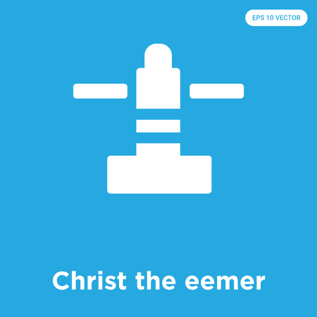 Christ the eemer vector icon isolated on blue background, sign and symbol