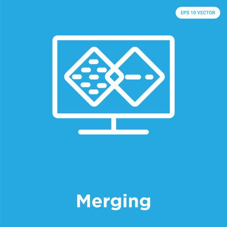 Merging icon Illustration