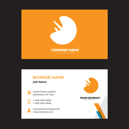 Human Spleen business card design template, Visiting for your company, Modern horizontal identity Card Vector