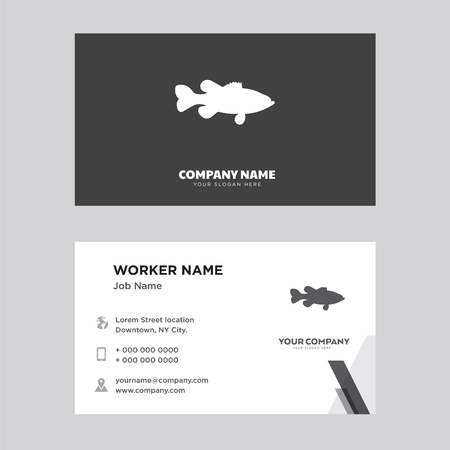 business card design template, Visiting for your company, Modern horizontal identity Card Vector