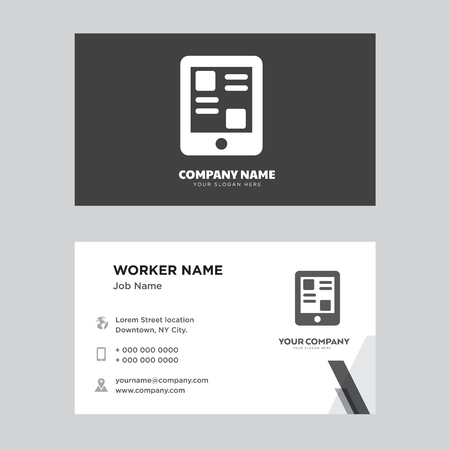 Smartphone Business Card Design Template Visiting For Your Company Modern Horizontal Identity Vector