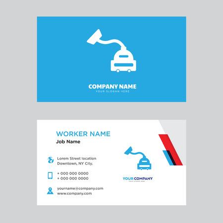 Plantilla de diseño de tarjeta de visita de aspiradora, visitando para su empresa, Vector de tarjeta de identidad horizontal moderna