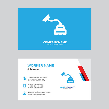 Vacuum cleaner business card design template, Visiting for your company, Modern horizontal identity Card Vector