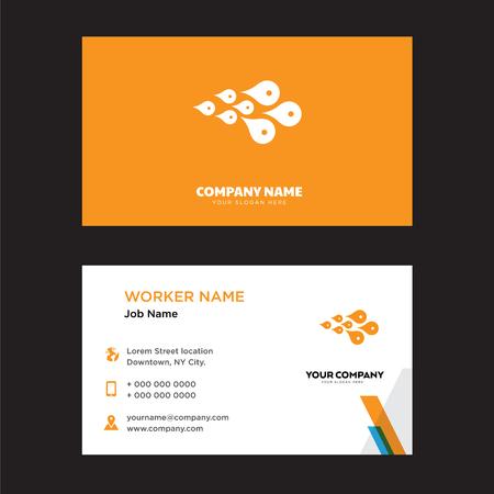 Skin Cells business card design template, Visiting for your company, Modern horizontal identity Card Vector Векторная Иллюстрация