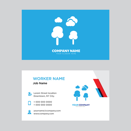 Park business card design template, Visiting for your company, Modern horizontal identity Card Vector
