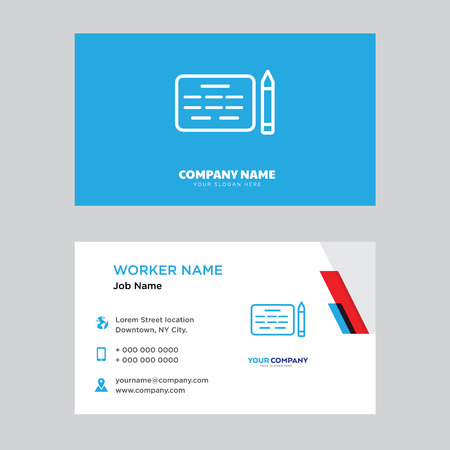 Agreement business card design template, Visiting for your company, Modern horizontal identity Card Vector Illustration