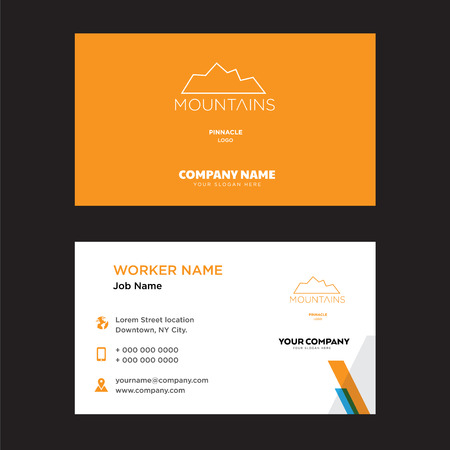 pinnacle business card design template, Visiting for your company, Modern horizontal identity Card Vector