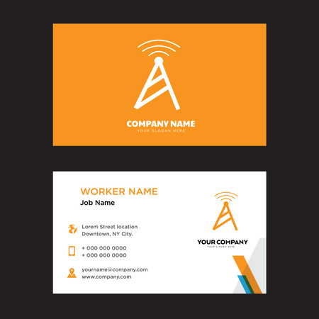 Tele business card design template, Visiting for your company, Modern horizontal identity Card Vector