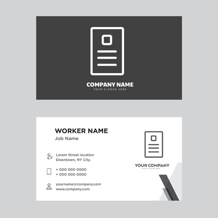 Newspaper business card design template, Visiting for your company, Modern horizontal identity Card Vector