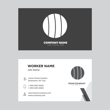 Soccer business card design template, Visiting for your company, Modern horizontal identity Card Vector 일러스트